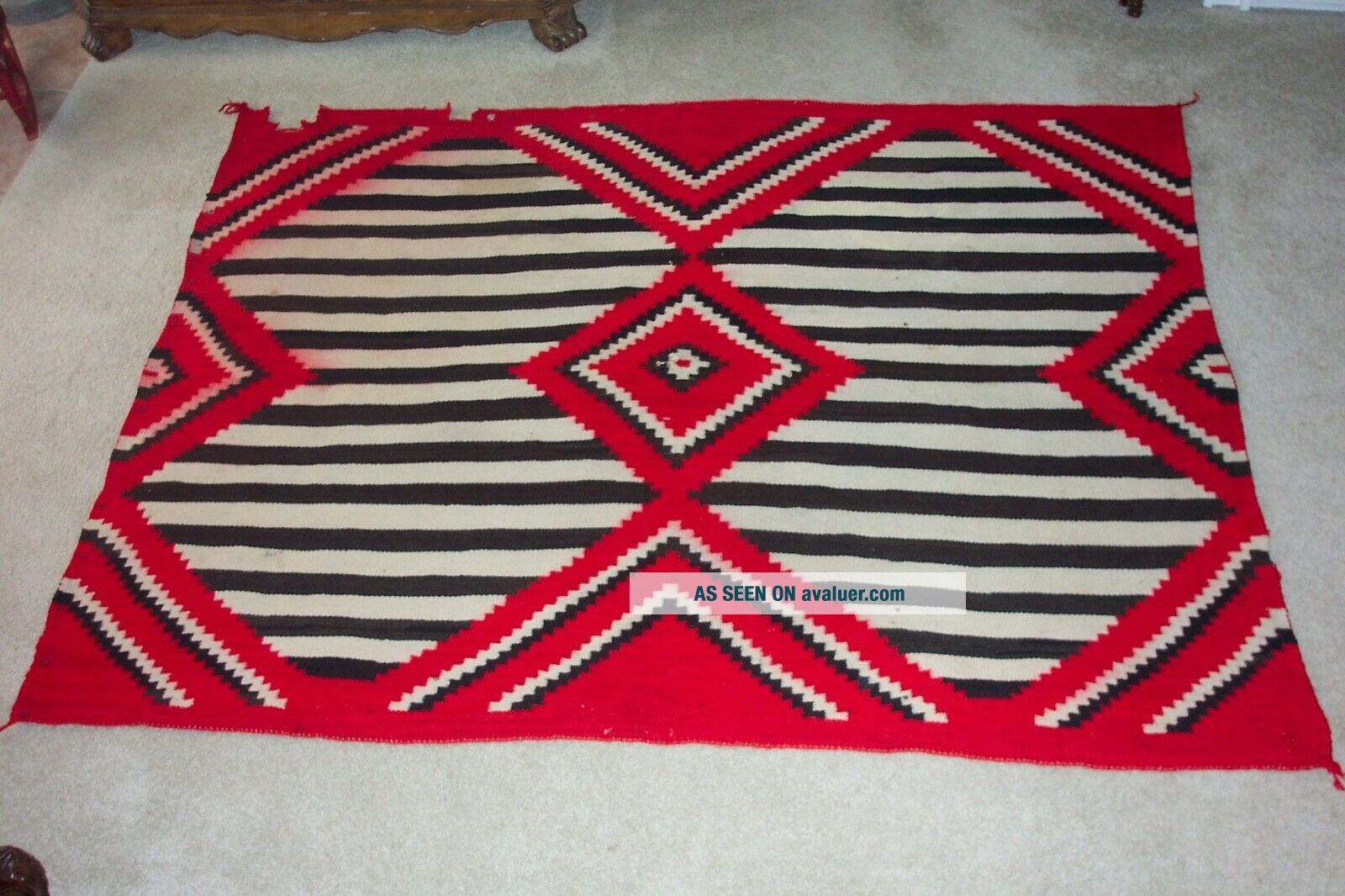 NAVAJO SECOND PHASE/THIRD PHASE CHIEF ' S BLANKET