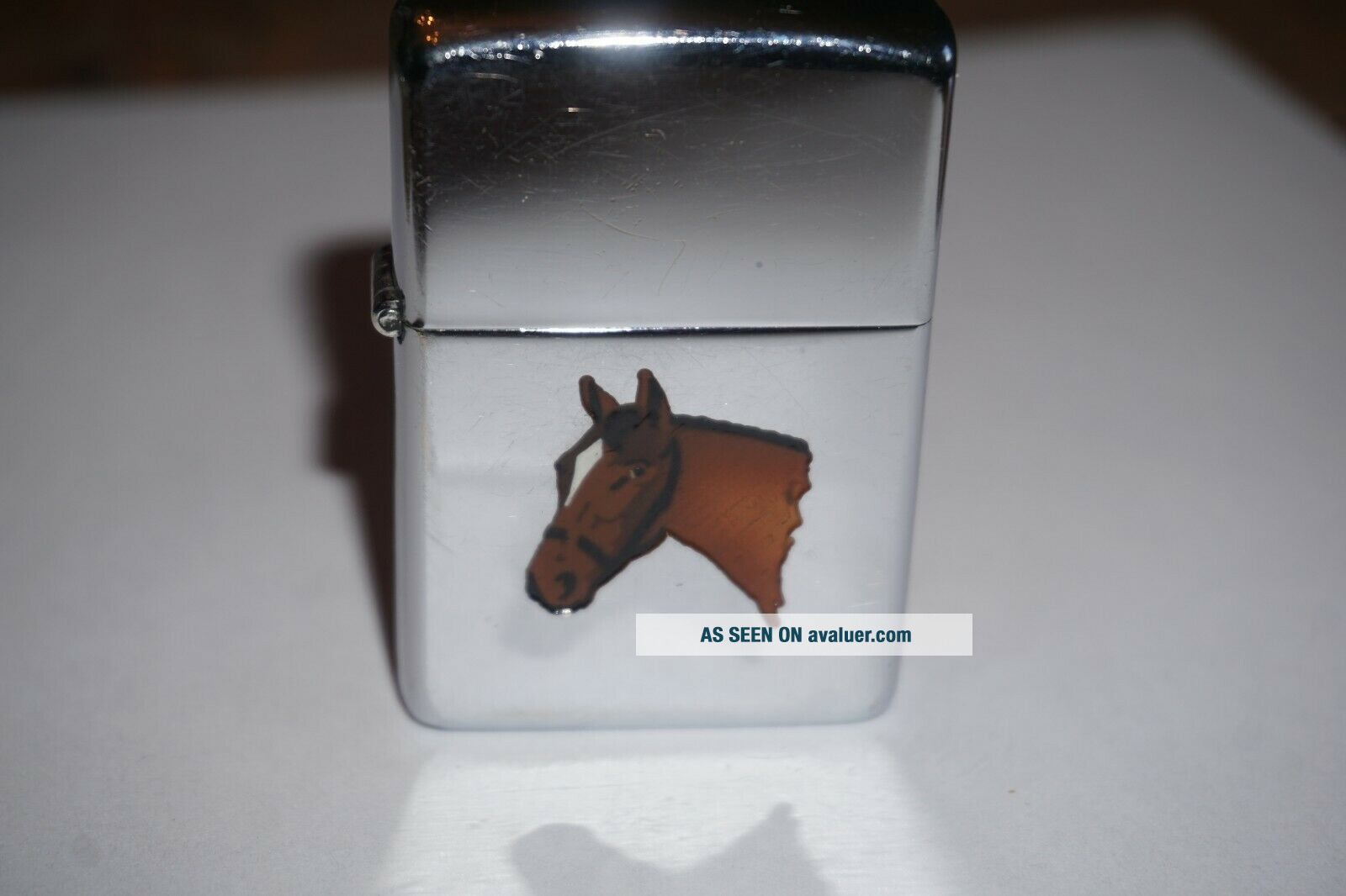 1949 Zippo Town and Country Horse lighter RARE 2032695 Patent No.