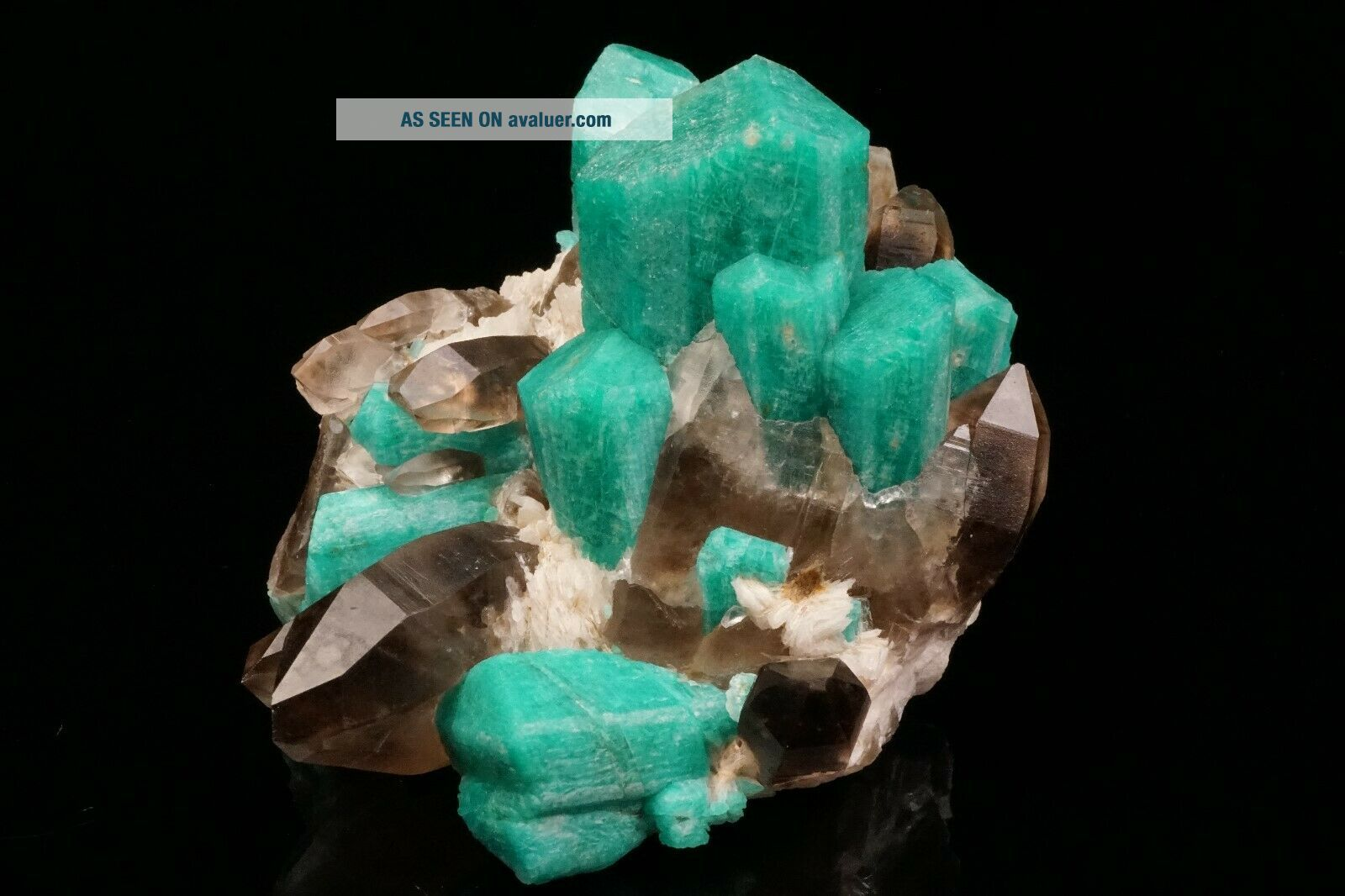 EXTRAORDINARY Amazonite & Smoky Quartz Crystal Cluster YUCCA HILL,  COLORADO