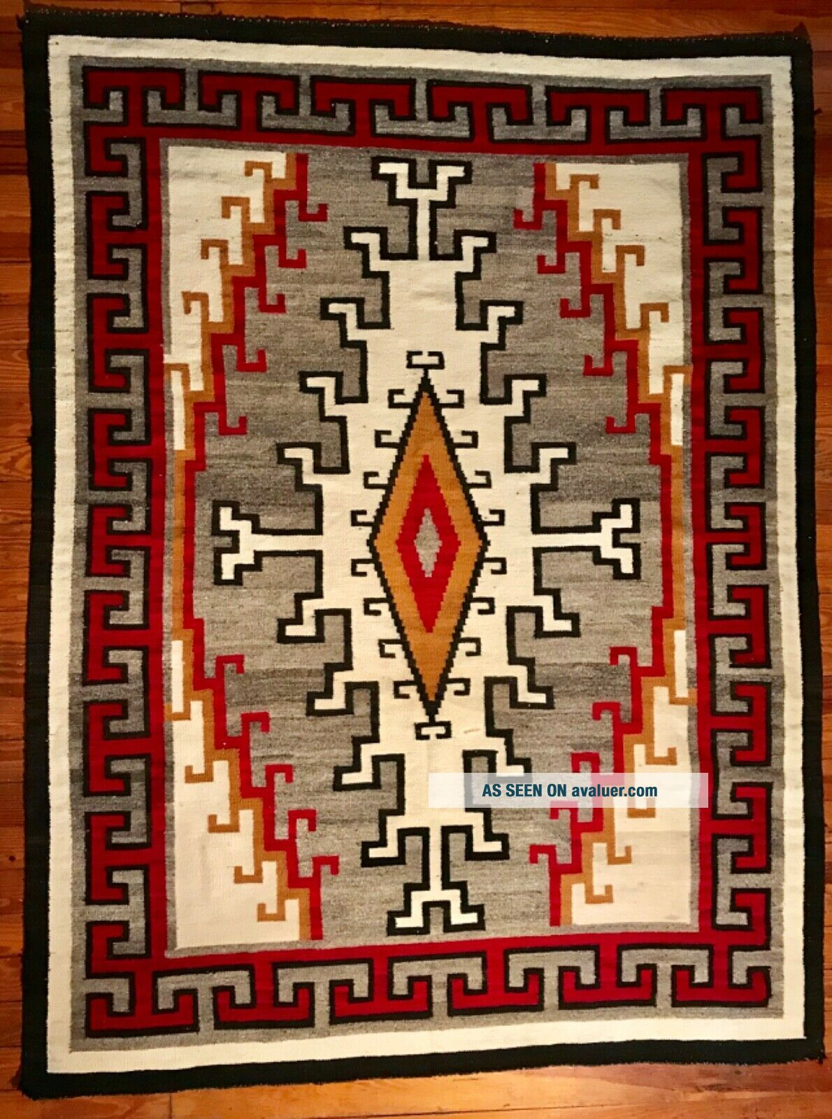 LARGE NAVAJO KLAGETOH RUG,  INTRICATE DESIGN,  COLORS,