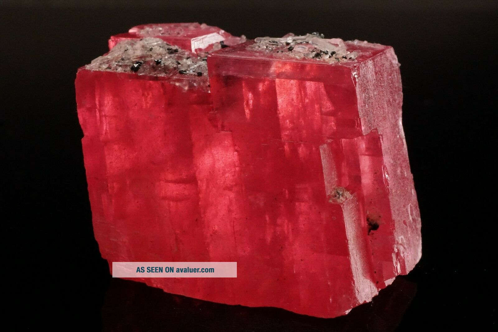 EXTRAORDINARY Rhodochrosite Crystal with Quartz SWEET HOME MINE,  COLORADO