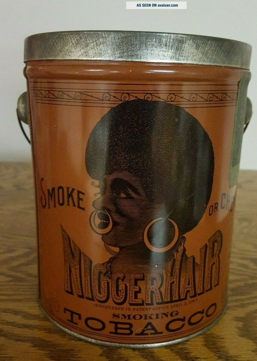 1941 Black Memorabilia Hair Tobacco Tin