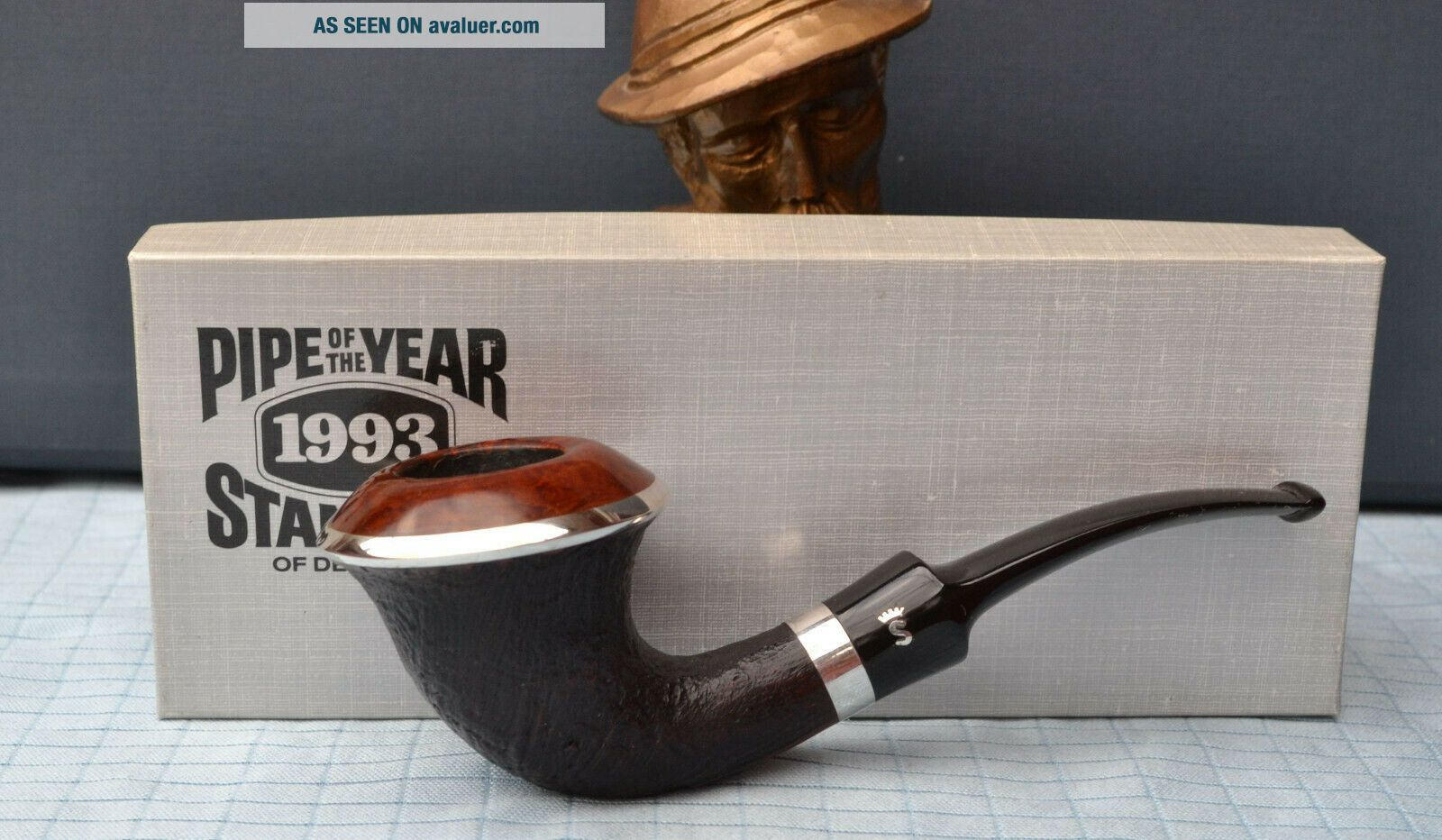 TOP STANWELL YEAR PIPE 1993 SILVER DESIGN BY SIXTEN IVARSSON 9 mm Filter
