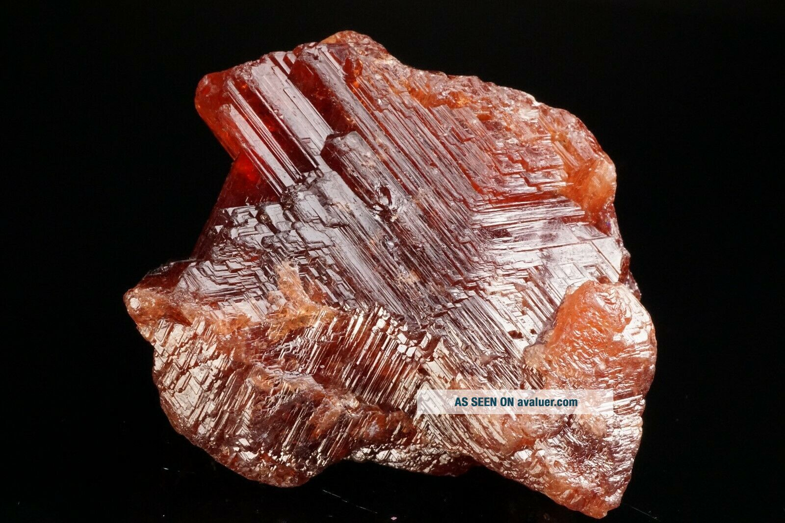 LARGE OLD Etched Spessartine Garnet Crystal PENHA DO NORTE,  BRAZIL - Ex.  Sherk