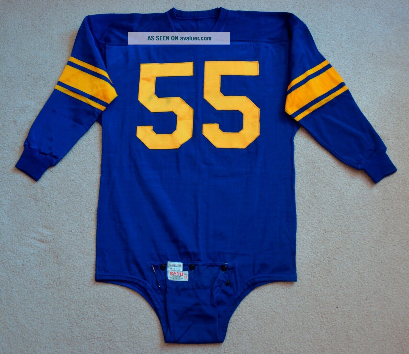 Vintage 1950s Tom Fears Los Angeles Rams Game Worn Jersey Rare NFL HOF H.  O.  F.