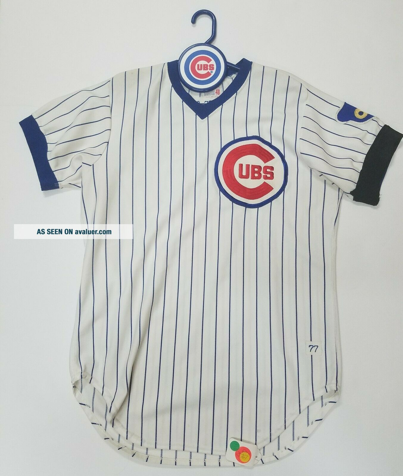 RICK REUSCHEL GAME - WORN CHICAGO CUBS JERSEY 1977