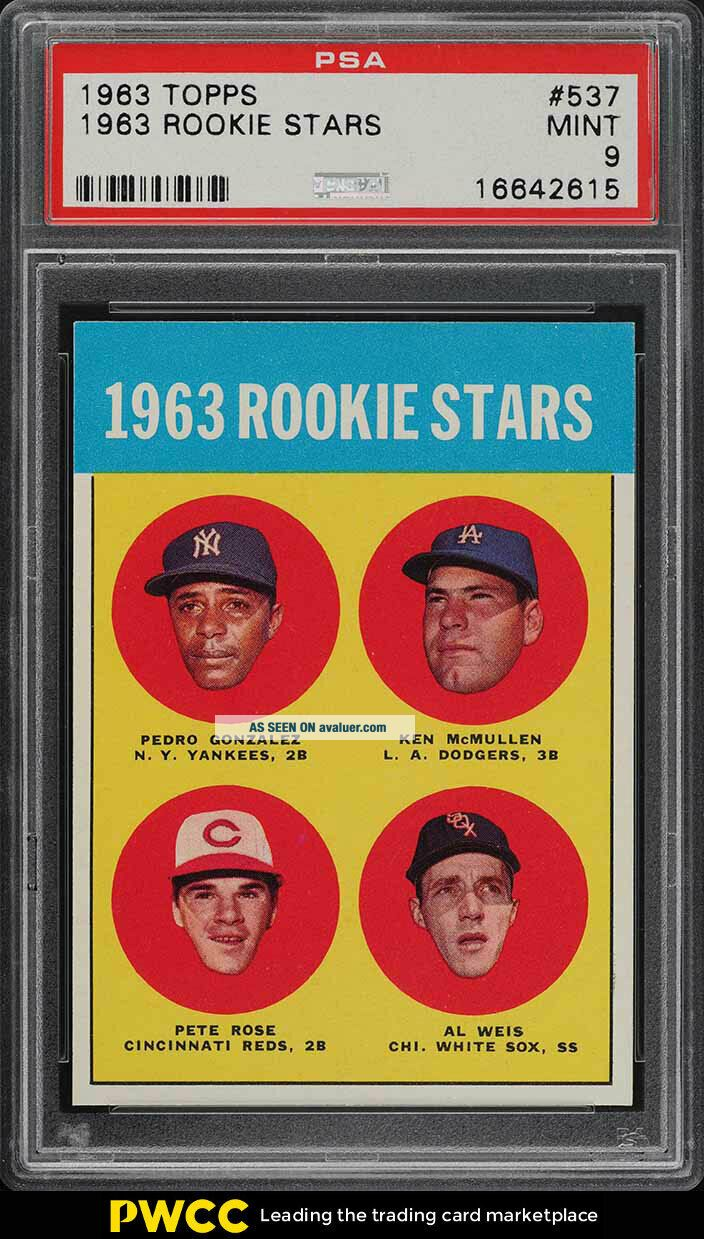 1963 Topps Pete Rose ROOKIE RC 537 PSA 9 (PWCC)