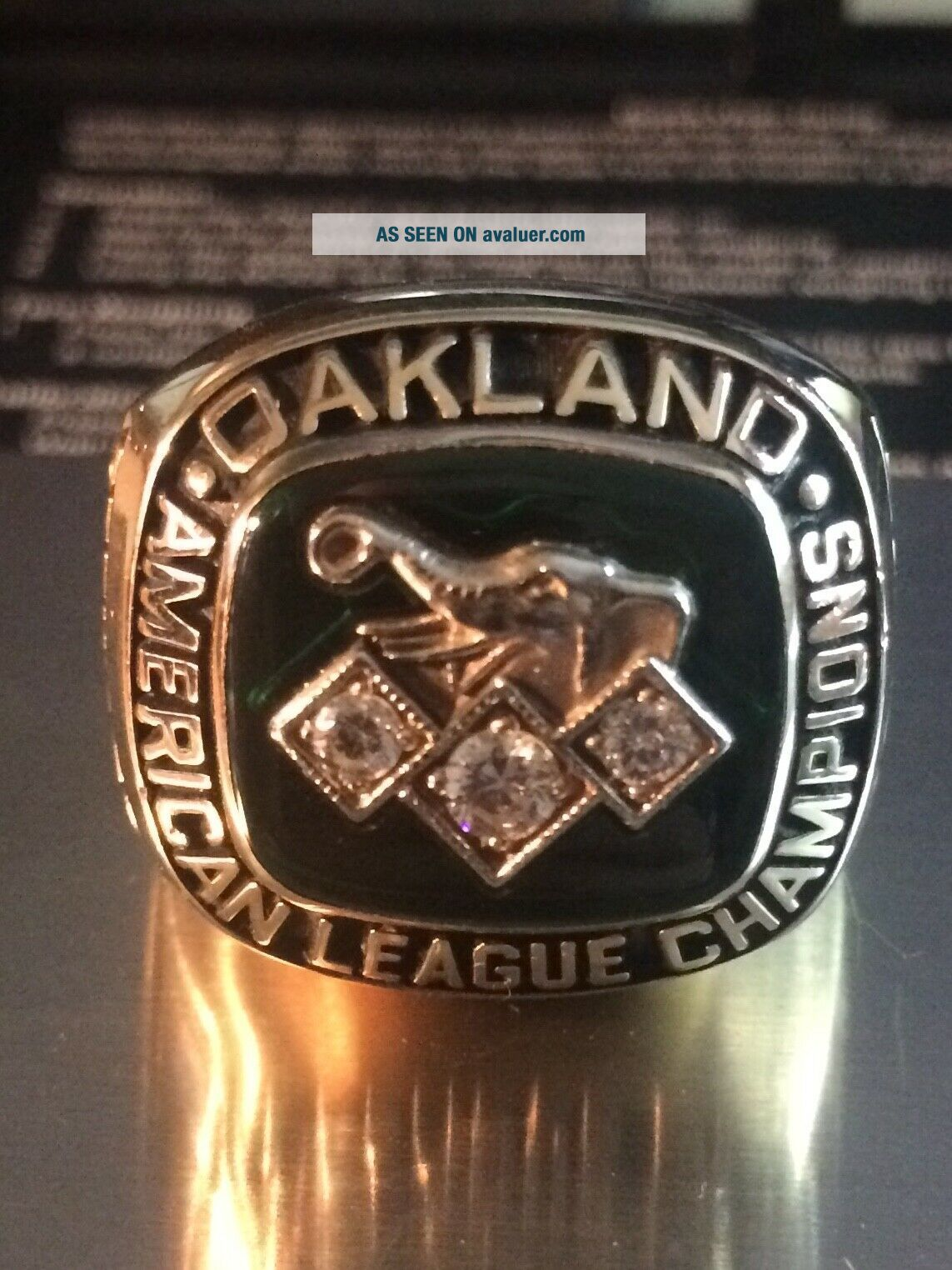 1990 Oakland A ' s American League Championship Ring 10K