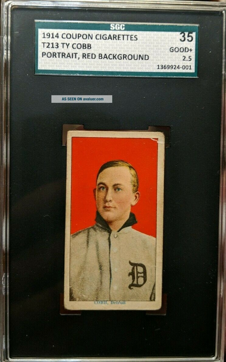1914 T213 Coupon Type 2 Ty Cobb PORTRAIT SGC 2.  5 Good,  Same t206 pose