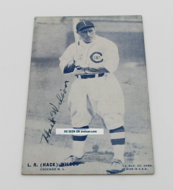 L.  R.  (HACK) WILSON CHICAGO CUBS SIGNED PHOTOGRAPH CIRCA 1930 NO RES 6162 - 1