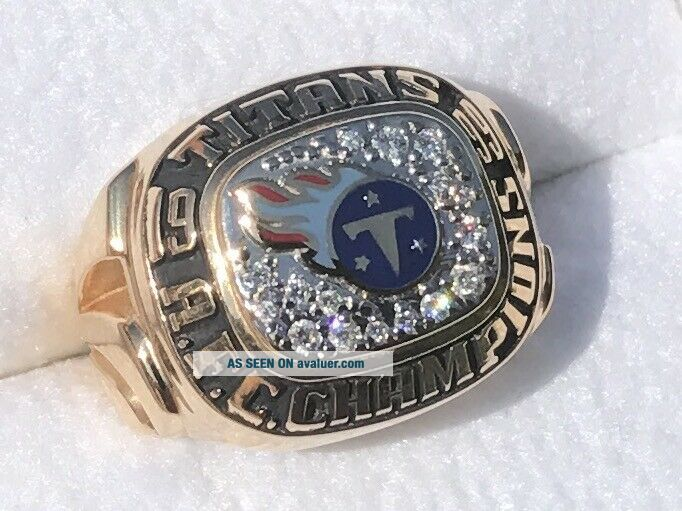 1999 Tennessee titans 14k diamonds football champions championship ring