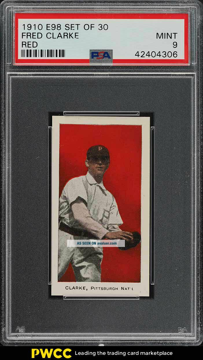 1910 E98 Set Of 30 Red Fred Clarke PSA 9 (PWCC)