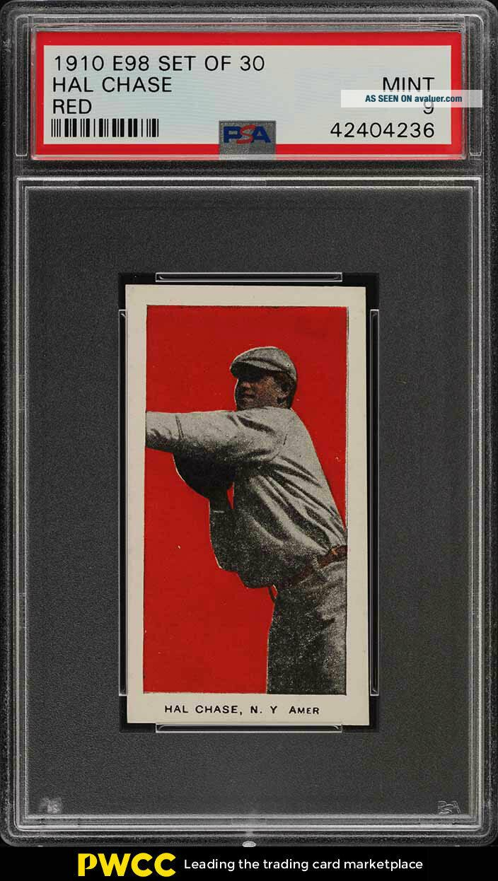 1910 E98 Set Of 30 Red Hal Chase PSA 9 (PWCC)