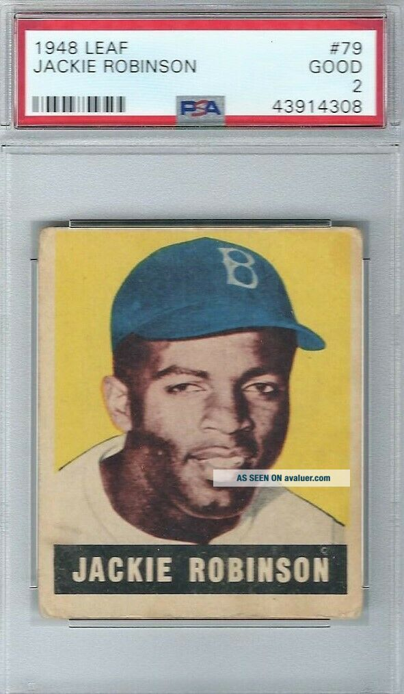 1948 Leaf 79 Jackie Robinson Brooklyn Dodgers PSA 2 Good