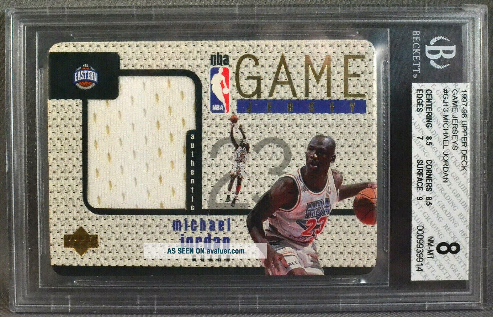 97 - 98 UD Upper Deck Michael Jordan NBA ALL - STAR GAME JERSEY 1997 1998 BGS 8 NM/M