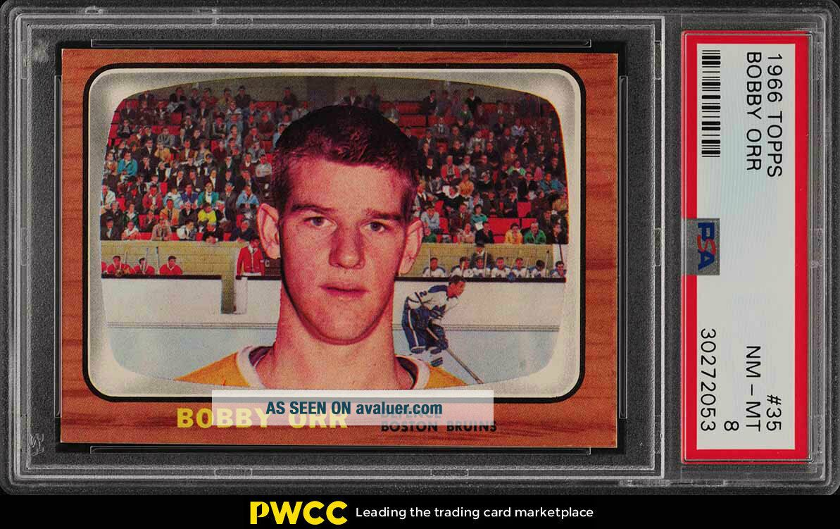 1966 Topps Hockey Bobby Orr ROOKIE RC 35 PSA 8 NM - MT (PWCC)
