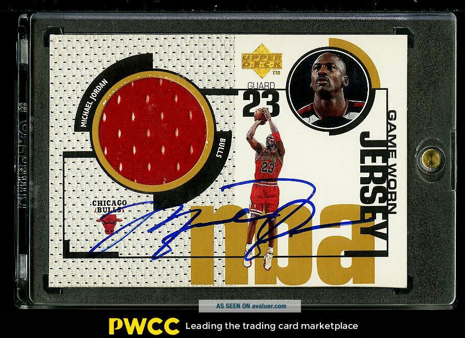 1998 Upper Deck Game Jersey Michael Jordan AUTO JERSEY GJ20,  UDA AUTH (PWCC)