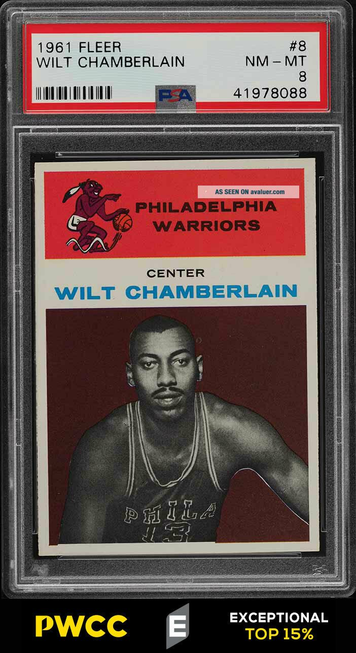 1961 Fleer Basketball Wilt Chamberlain ROOKIE RC 8 PSA 8 NM - MT (PWCC - E)