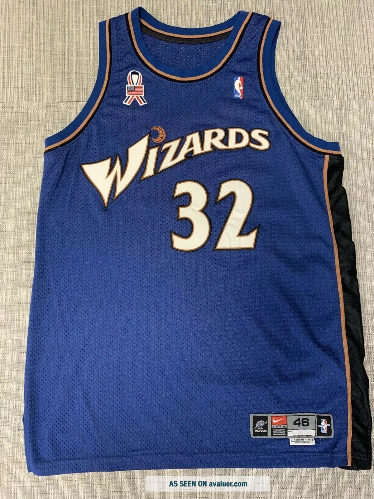 "Richard ""Rip"" Hamilton Game Worn Wash Wizards Photo - matched Nike Pro Cut Jersey"