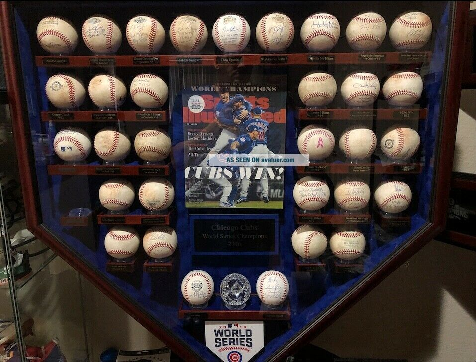 2016 Chicago Cubs Game Baseballs with case.  Kris Bryant,  Rizzo,  Baez,  Lester