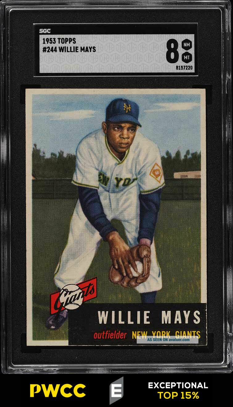 1953 Topps Willie Mays SHORT PRINT 244 SGC 8 NM - MT (PWCC - E)