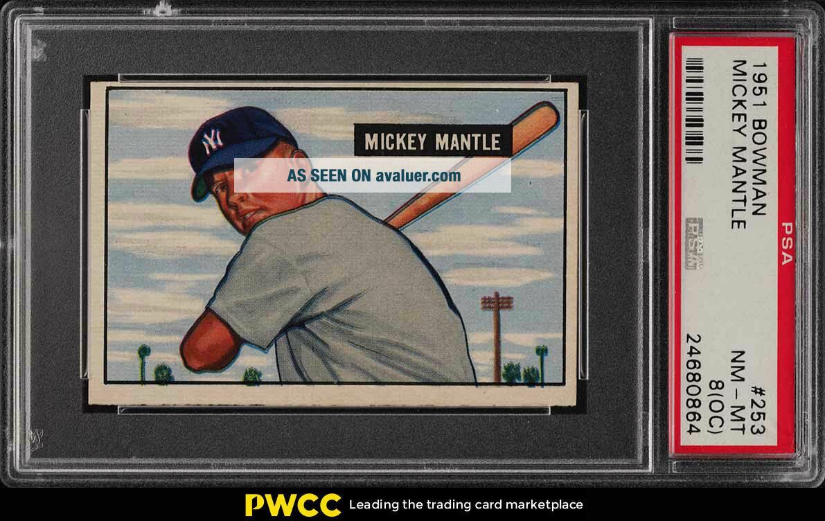 1951 Bowman Mickey Mantle ROOKIE RC 253 PSA 8 (oc) NM - MT (PWCC)