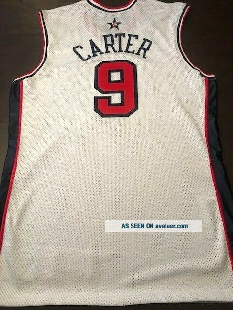 VINCE CARTER 2000 GAME - ISSUED OLYMPIC JERSEY