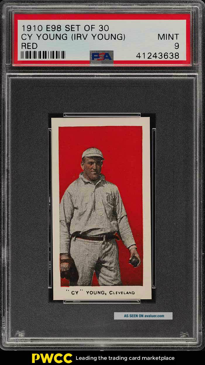 1910 E98 Set Of 30 Red Cy Young PSA 9 (PWCC)