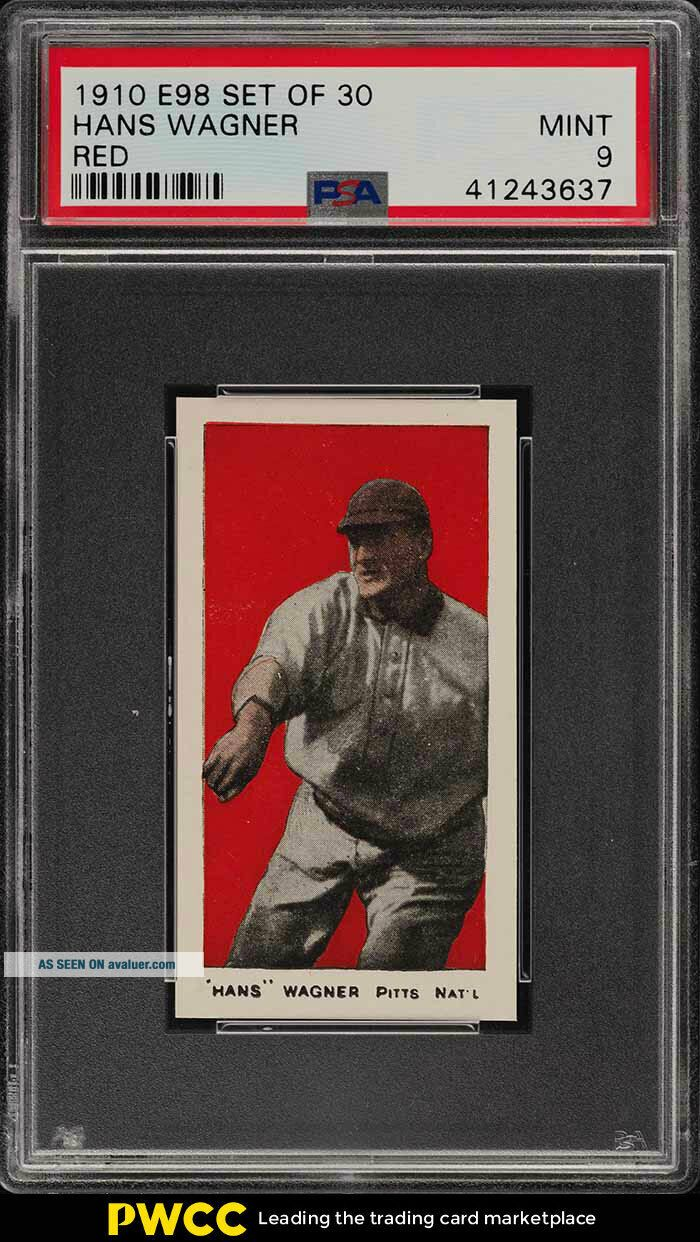 1910 E98 Set Of 30 Red Honus Wagner PSA 9 (PWCC)