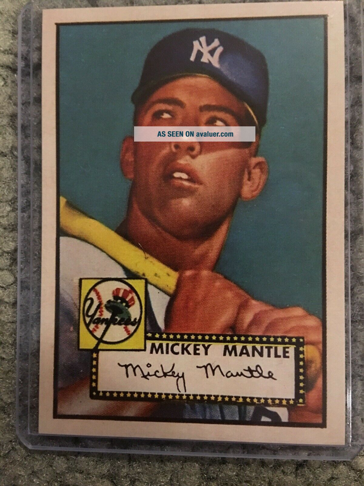 1952 Topps 311 Mickey Mantle Rookie Card RC York Yankees MLB